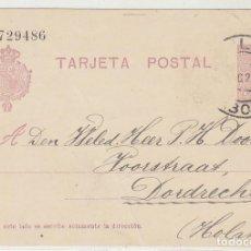 Sellos: 50. ALFONSO XIII. TIPO MEDALLÓN. MÁLAGA A DORDRECHT (HOLANDA). 1923.. Lote 69906417
