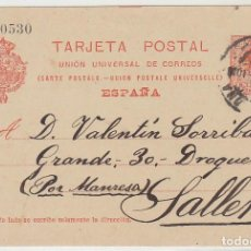 Sellos: 53. ALFONSO XIII. BARCELONA A SALLENT. 1913.. Lote 69906869