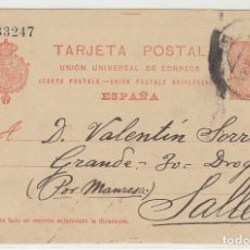 Sellos: 53. ALFONSO XIII. BARCELONA A SALLENT. 1913.. Lote 69907741