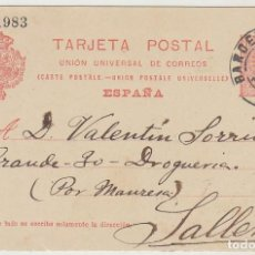 Sellos: 53. ALFONSO XIII. BARCELONA A SALLENT. 1911.. Lote 69907861