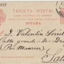 Sellos: 53. ALFONSO XIII. BARCELONA A SALLENT. 1911.. Lote 69908401