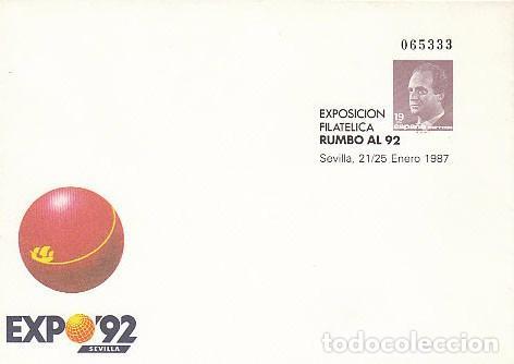 SOBRE ENTERO POSTAL EDIFIL Nº 6, RUMBO AL 92, EXPOSICIÓN UNIVERSAL DE SEVILLA, EXPO 92, NUEVO (Sellos - España - Entero Postales)