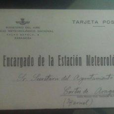 Sellos: MINISTERIO DEL AIRE SERVICIO METEOROLÓGICO NACIONAL ENTERO POSTAL. Lote 72706703