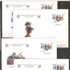Sellos: SEP 41 ENTERO POSTAL FERIA DEL SELLO 97 COMICS. TEBEOS.MADRID 1997 (4) NUEVOS. Lote 73944563
