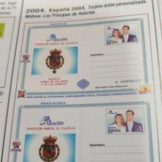 Sellos: ESPAÑA ENTEROS POSTALES 2004 Y 2014 PRINCIPES DE ASTURIAS Nº 46 + 32A. Lote 77466669