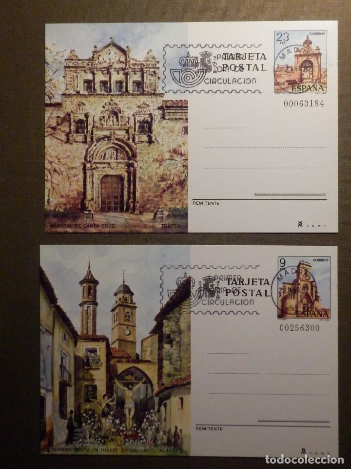 ESPAÑA -1982 - TURISMO - EDIFIL 127 Y 128 - ENTERO POSTAL PRIMER DÍA CIRCULACIÓN - SERIE DE 2 - (Sellos - España - Entero Postales)