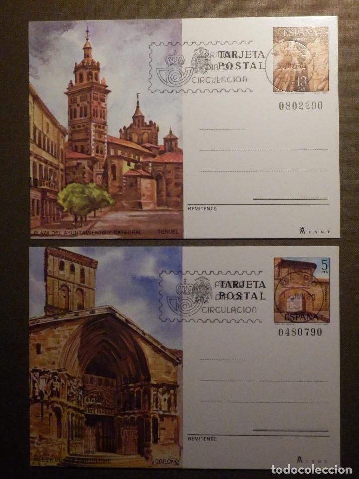 ESPAÑA -1980 - TURISMO - EDIFIL 123 Y 124 - ENTERO POSTAL - PRIMER DÍA CIRCULACIÓN - SERIE DE 2 - (Sellos - España - Entero Postales)