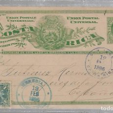 Sellos: ENTERO POSTAL. COSTA RICA. 1896. VER IMAGEN. Lote 75947775