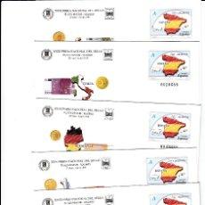 Sellos: 5 SOBRES ENTERO POSTALES FERIA NACIONAL DEL SELLO - MADRID - 1999. Lote 76777543