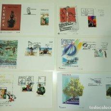 Sellos: SOBRE ENTERO POSTAL ESPAÑA LOTE 6 SOBRES DE VARIOS AÑOS. Lote 77466241