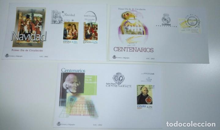 SOBRE ENTERO POSTAL ESPAÑA LOTE 3 SOBRES DE 2002 (Sellos - España - Entero Postales)
