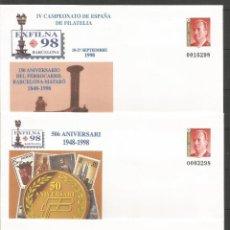 Sellos: ESPAÑA EXFILNA´98 ENTEROS POSTALES EDIFIL NUM. 48 NUEVOS. Lote 77474401