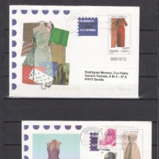 Sellos: ESPAÑA S.E.P. 118/9 CIRCULADO, FILABARNA 2007, MODA ESPAÑOLA, REMITE ETIQUETA ANFIL. Lote 80217773