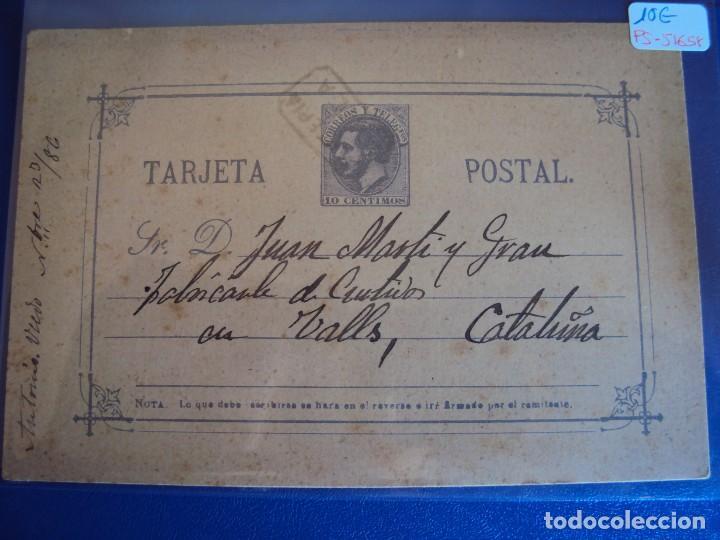 (PS-51658) ENTERO POSTAL ALFONSO XII . BREA - VALLS (TARRAGONA) (Sellos - España - Entero Postales)