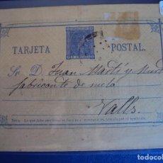 Francobolli: (PS-51672) ENTERO POSTAL ALFONSO XII . VALENCIA - VALLS (TARRAGONA). Lote 83151972