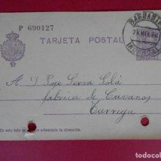 Stamps - ENTERO POSTAL, ALFONSO XIII - DE BARBASTRO (HUESCA) A TARREGA (LÉRIDA) - AÑO 1928 .. R-5603 - 83735808