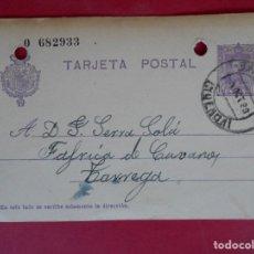 Stamps - ENTERO POSTAL, ALFONSO XIII - DE BARBASTRO (HUESCA) A TARREGA (LÉRIDA) - AÑO 1928 .. R-5604 - 83735976