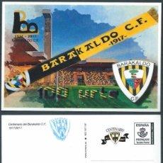 Stamps - ESPAÑA 2017 TARJETA PERSONALIZADA CON PREFRANQUEO OFICIAL DE 100 AÑOS DEL BARAKALDO C.F FUTBOL CLUB - 132205330