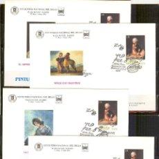 Sellos: SEP 35 ENTERO POSTAL FERIA SELLO 96 GOYA MADRID 1996.4 SOBRES MATASELLADOS FERIA. Lote 87164424