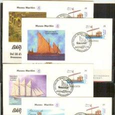 Sellos: SEP 45 ENTERO POSTAL BARNAFIL 98 BARCOS BARCELONA 1998 (4 SOBRES) MATASELLADOS FERIA. Lote 87244304