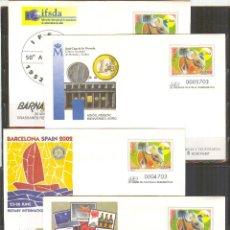 Sellos - SEP 77 ENTERO POSTAL BARNAFIL 2002 BARCELONA.4 SOBRES NUEVOS PERFECTO ESTADO. - 87253500