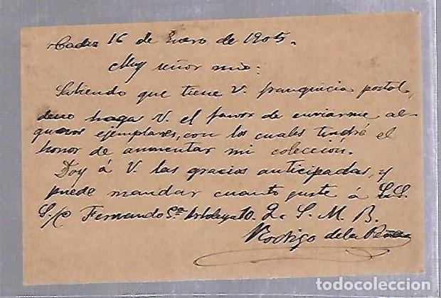 Sellos: ENTERO POSTAL. MANDADO A MARIANO PARDO DE FIGUEROA, DOCTOR THEBUSSEM. LEER DORSO. MUY INTERESANTE - Foto 2 - 87485640