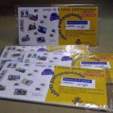 Stamps - SERIE COMPLETA 4 SERIES, DE 6 SOBRES PREFRANQUEADOS, Y PAPEL DE CARTA, EL QUIJOTE, MINGOTE - 91598825