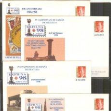 Sellos: SEP 48 EDIFIL EXPOSICION EXFILNA 98 BARCELONA.4 SOBRES NUEVOS. Lote 96833547
