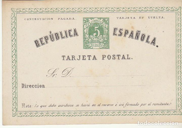 XX 4 : ALFONSO XII 1874.(VUELTA) (Sellos - España - Entero Postales)