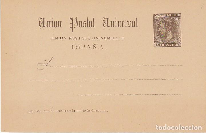 XX 16 : ALFONSO XII 1884. (Sellos - España - Entero Postales)
