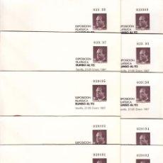 Sellos: ,,,ESPAÑA S.E.P. 6 JUEGO 10 SOBRES CON Nº CORRELATIVOS CON VARIEDAD DE IMPRESION DEFECTUOSA EN Nº. Lote 101067816