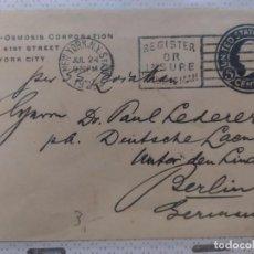 Sellos - carta circulada en eeuu new york alemania - 102577183