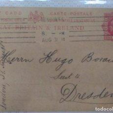 Sellos: ENTERO POSTAL CIRCULADA A DRESDEN 1911. Lote 102580027