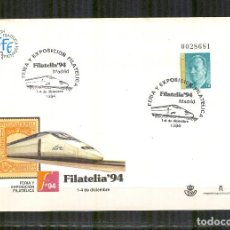 Sellos: SEP 24 ENTERO POSTAL FILATELIA 94 MADRID TREN AVE MATASELLADO FERIA.. Lote 105430843