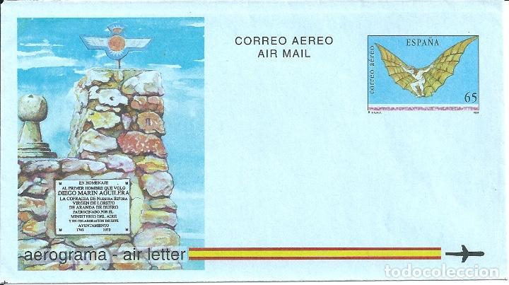 AEROGRAMA Nº 218 (EDIFIL) AÑO 1993 (Sellos - España - Entero Postales)