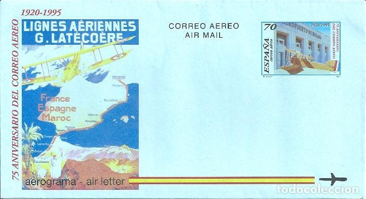 AEROGRAMA Nº 220 (EDIFIL) AÑO 1995 (Sellos - España - Entero Postales)