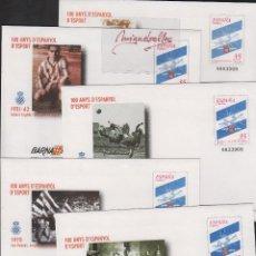 Stamps - SOBRES ENTEROS POSTALES ESPAÑA 2000 ed nº 59 A/E -deporte, centenario del español, barnafil 2000 - 114514831