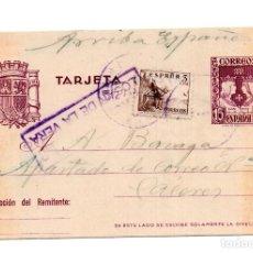 Sellos: CENSURA MILITAR LOSAR DE LA VERA, CACERES, EXTREMADURA. Lote 115117259