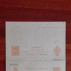 Stamps - España Enteropostal Edifil 41 Alfonso XIII tercera serie Tipo Cadete Ida y vuelta 1901 - 116061875