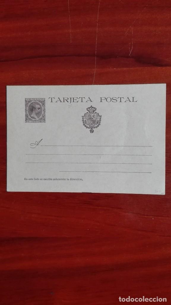 ESPAÑA ENTEROPOSTAL EDIFIL 36 ALFONSO XIII NOVENA SERIE TIPO PELÓN 1897 CATÁLOGO 160 € (Sellos - España - Entero Postales)
