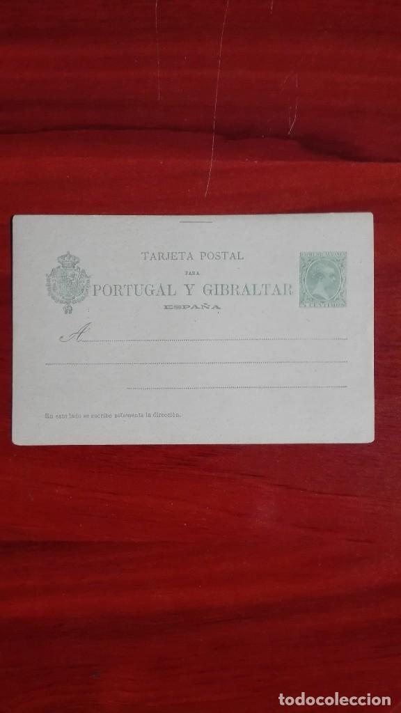 ESPAÑA ENTEROPOSTAL EDIFIL 34 ALFONSO XIII OCTAVA SERIE TIPO PELÓN 1893 NUEVA (Sellos - España - Entero Postales)