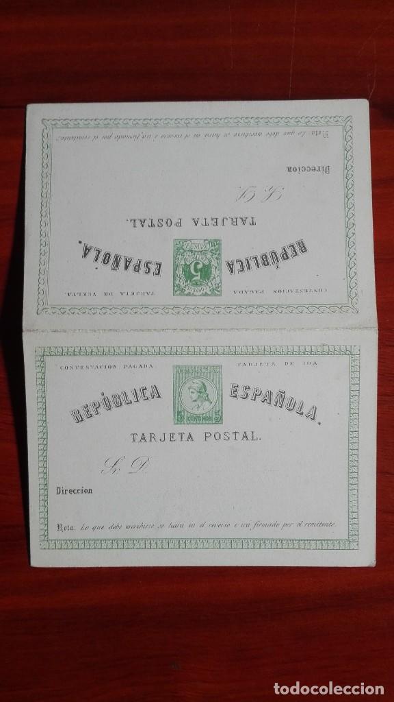 ESPAÑA ENTEROPOSTAL EDIFIL 2A MATRONA Y CIFRAS 1873 - 1874 PRIMERA SERIE CATÁLOGO 160 € (Sellos - España - Entero Postales)