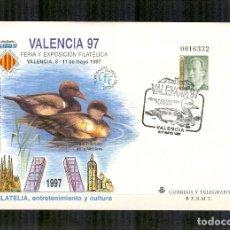 Sellos: SEP 40 ENTERO POSTAL EXPOSICION VALENCIA 1997 PATOS MATASELLADO FERIA. Lote 116994271