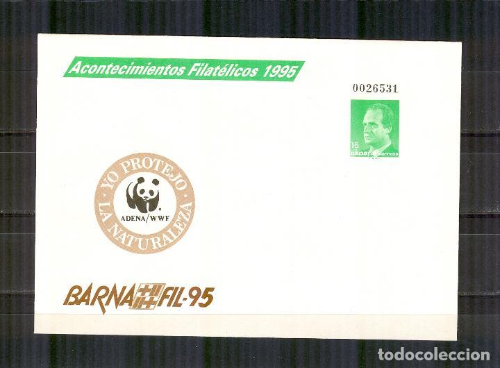 SEP 27 ENTERO POSTAL ACONTECIMIENTOS FILATELICOS BARNAFIL 1995 BARCELONA ADENA (Sellos - España - Entero Postales)