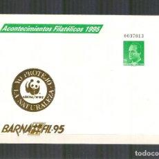 Sellos - SEP 27 ENTERO POSTAL ACONTECIMIENTOS FILATELICOS BARNAFIL 1995 IMPRESION ORO BARCELONA ADENA - 118824879