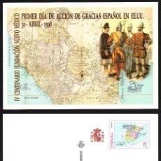 Sellos: TARJETA ENTERO POSTAL NUEVA IV CENT. FUNDACION NUEVO MEXICO. Lote 119197911