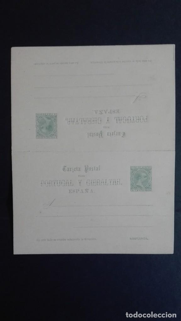 ESPAÑA ENTEROPOSTAL EDIFIL 26 ALFONSO XIII IDA Y VUELTA TERCERA SERIE 1890 CATÁLOGO 200 €7 (Sellos - España - Entero Postales)