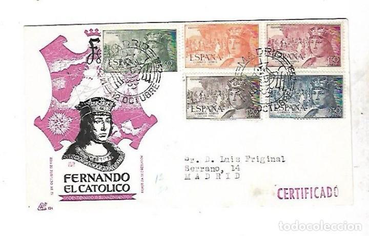 SOBRE PRIMER DIA. FERNANDO EL CATOLICO. CENTENARIO DE SU NACIMIENTO. 1952. VER (Sellos - España - Entero Postales)