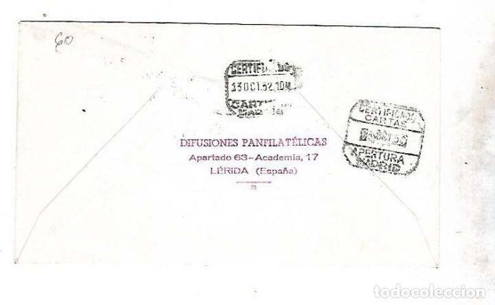 Sellos: SOBRE PRIMER DIA. FERNANDO EL CATOLICO. CENTENARIO DE SU NACIMIENTO. 1952. VER - Foto 2 - 122393107