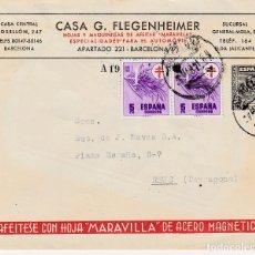 Sellos: ENTERO POSTAL PRIVADO - CASA G.FLEGENHEIMER DE BARCELONA -HOJAS DE AFEITAR MARAVILLA -VER DORSO. Lote 124568355